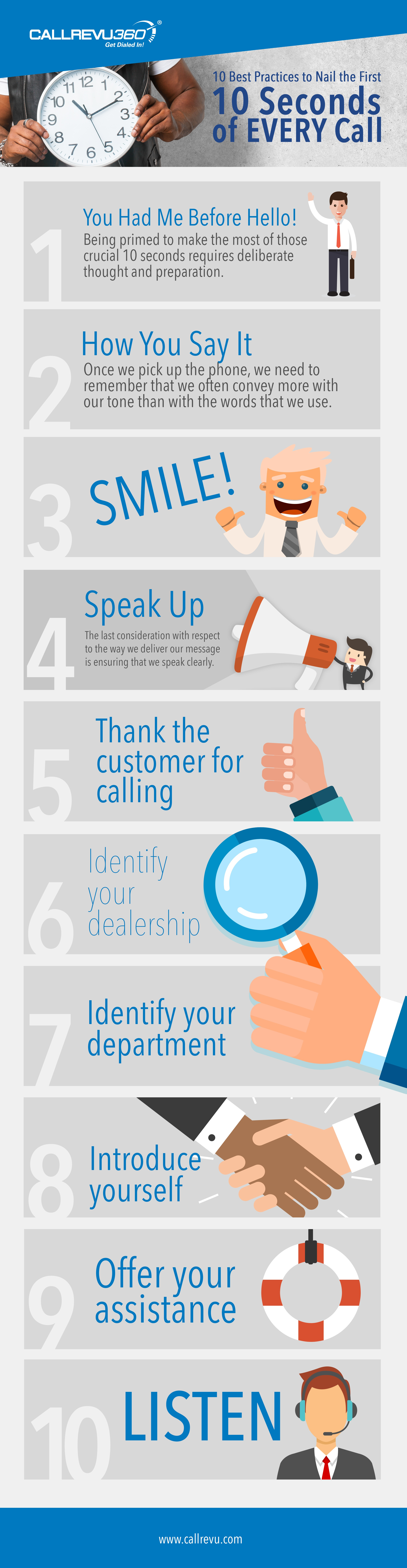 Infographic- Nail the First 10 Seconds of Every Call